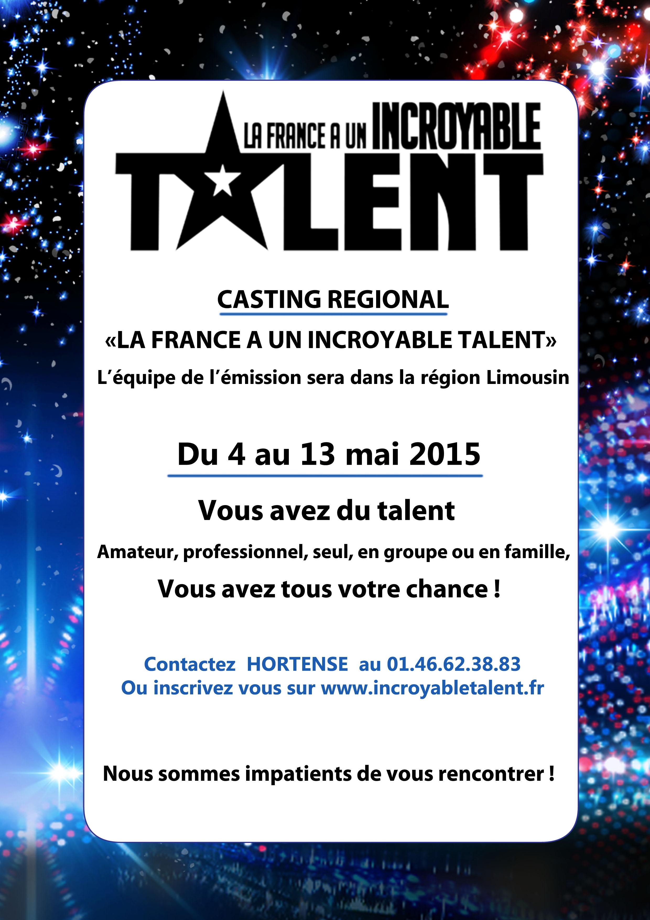 Ussel19 Fr Casting La France A Un Incroyable Talent
