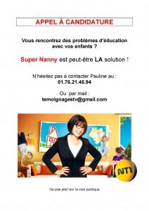 NANNY_Appel à candidature